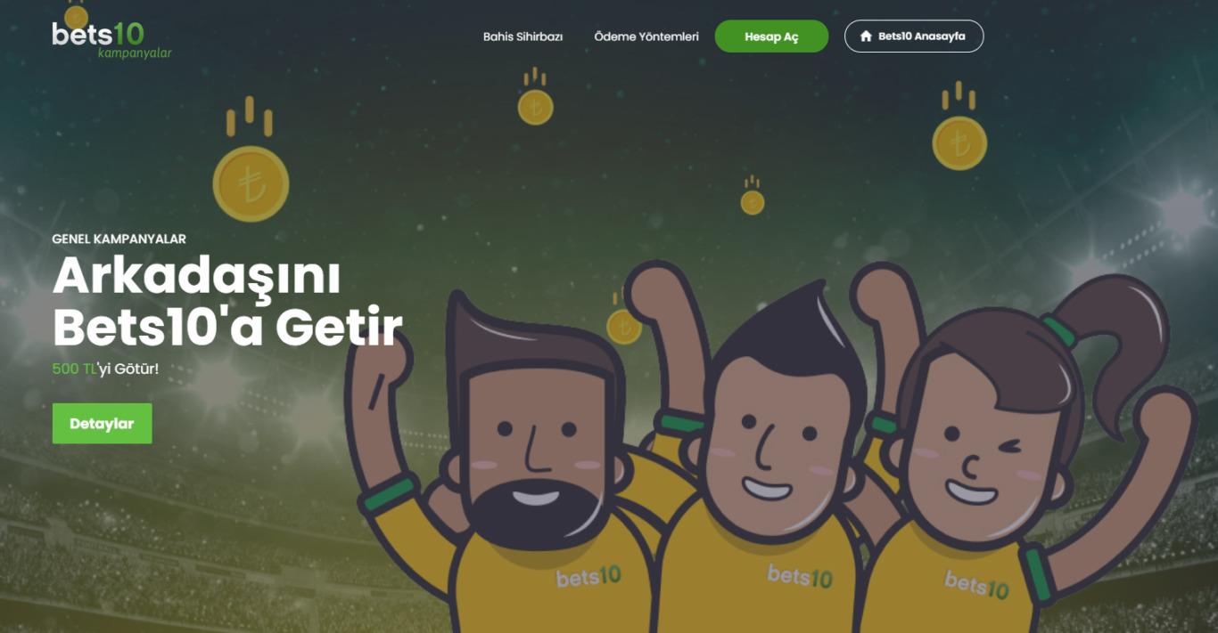 Türkiye'de Bets10 yeni adresi