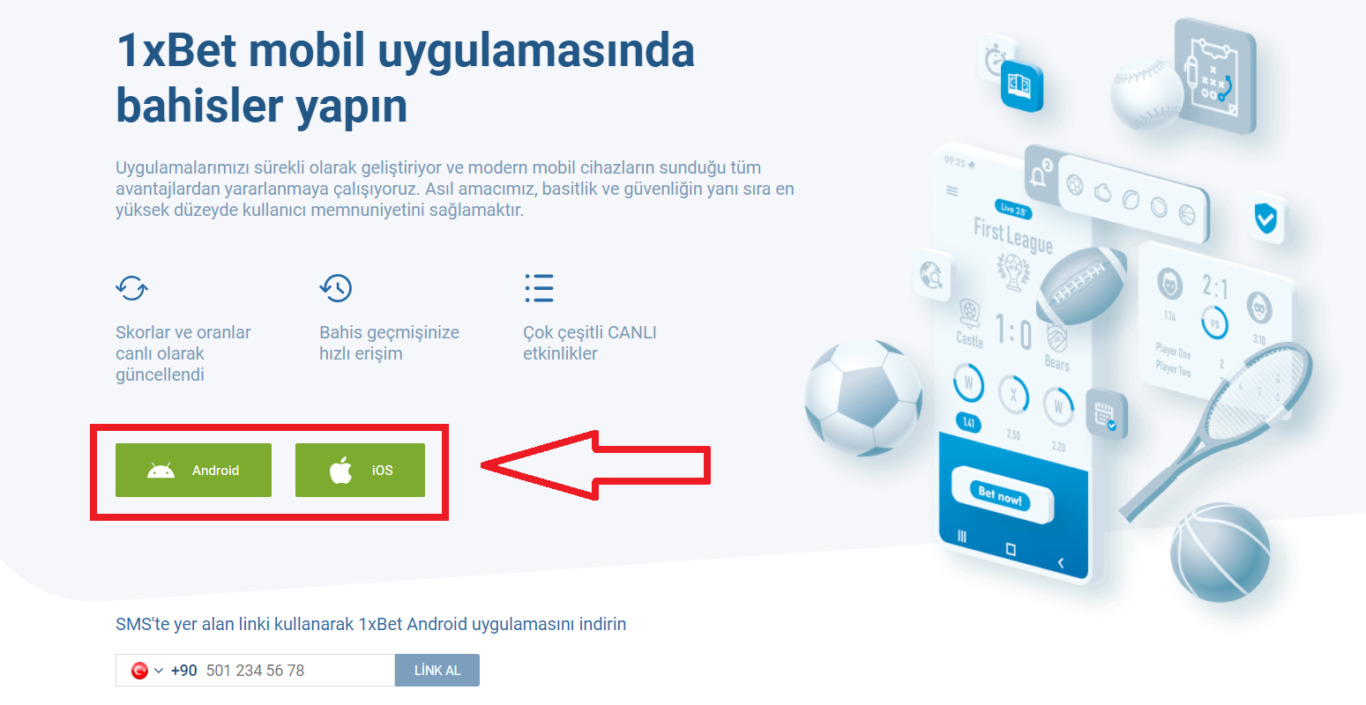 1xBet Apk indir — Android Uygulaması