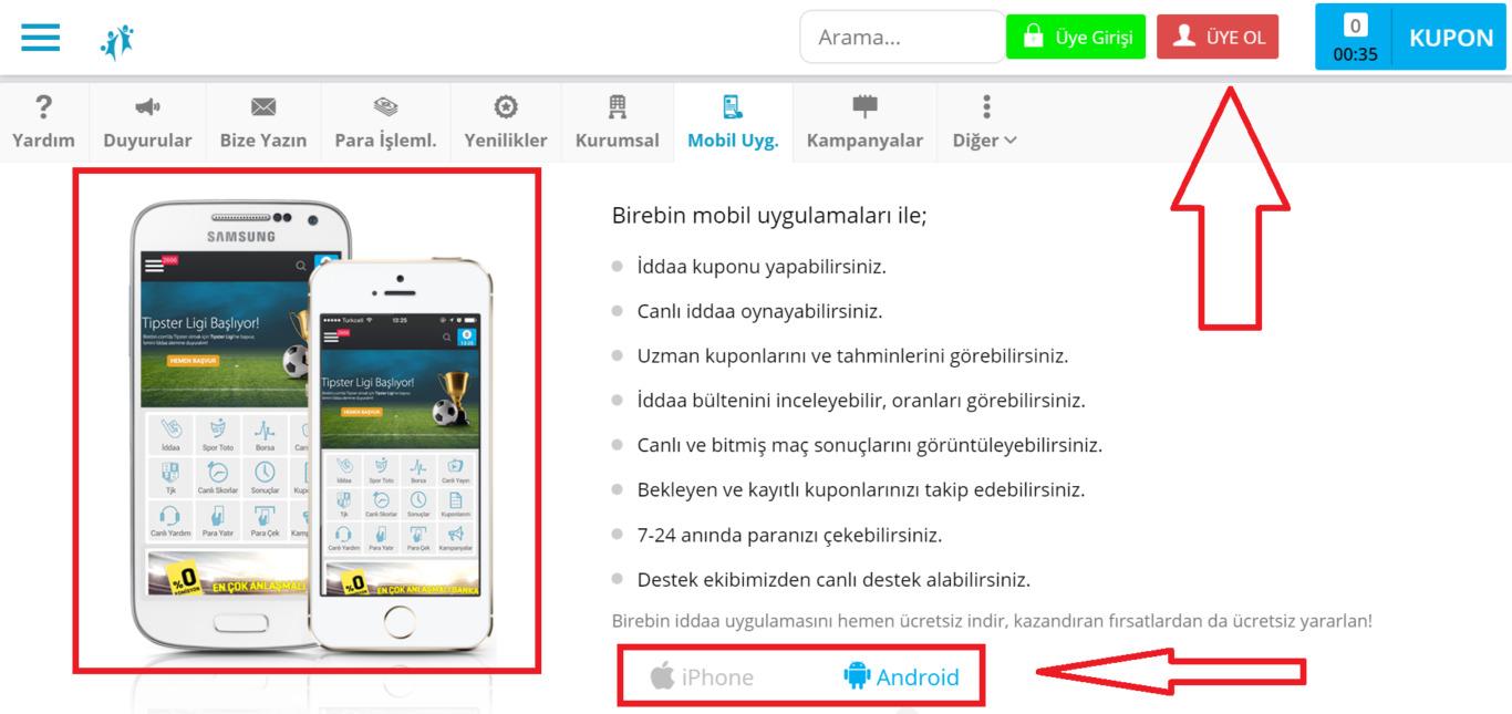 Tüm akıllı ürünlerle uyumlu olan Birebin mobil